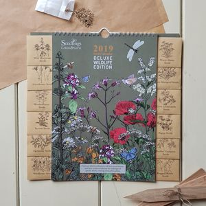 Deluxe 2019 Seed Calendar Wildlife Edition - gifts for her