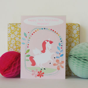 Bubble Personalised Unicorn Card