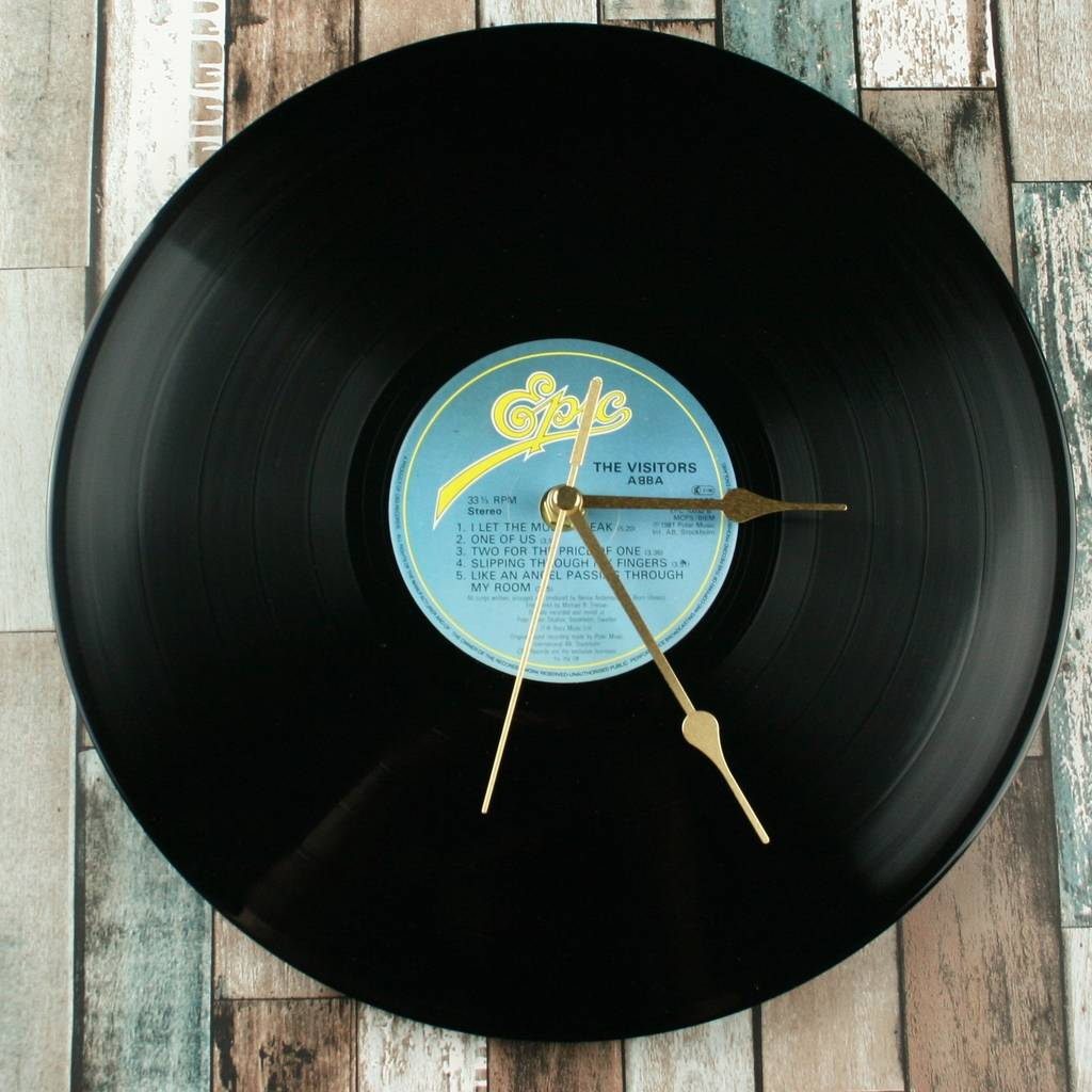 Classic Vinyl Record Clock Choose Artist Or Decade By