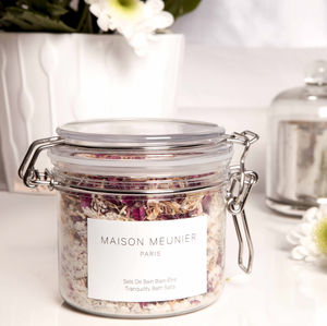 Tranquility Bath Salts All Natural And Vegan - bathroom