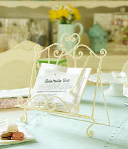 Amelie Cream Cook Book Stand - cake stands
