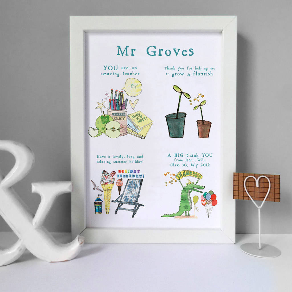 Personalised Story Print For Teacher