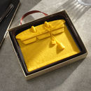 Yellow Designer Chocolate Handbag