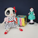 Cuddly Spotty Dress Panda Toy