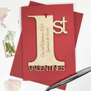 Personalised 1st Valentine's Day Card