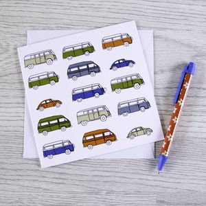 Campervan Greetings Card 'Part Of The Family'