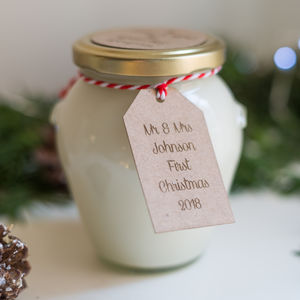 Mr And Mrs First Christmas Handmade 50 Hour Soy Candle