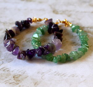 Children's Semi Precious Nugget Stone Bracelet - children's jewellery