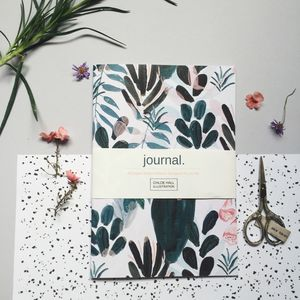 Personalised Cacti A5 Journal - writing