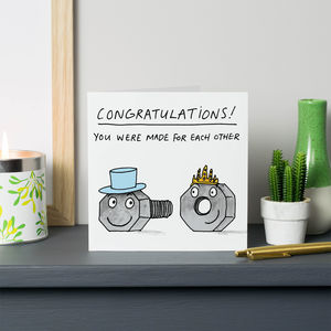 'You Were Made For Each Other' Card - wedding cards