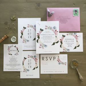 Hannah Florals | Botanical Wedding Invitation - invitations