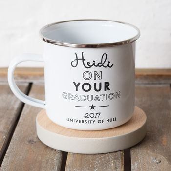 Graduation Student University Enamel Mug