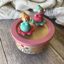 Classical Dancing Flower Girls Wooden Music Box