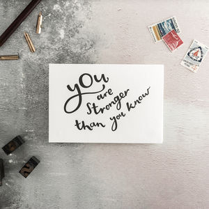 You Are Stronger Than You Know Letterpress Card - shop by category