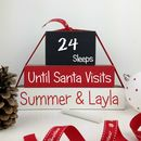 Personalised Handmade Sleeps 'Till Santa Blocks