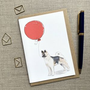 Personalised American Akita Birthday Card