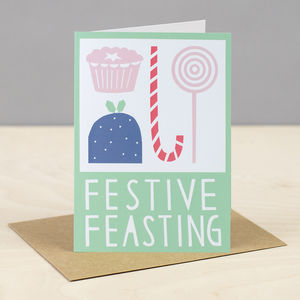 'Festive Feasting' Christmas Card