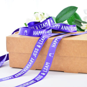 Anniversary 15mm Personalised Printed Ribbon