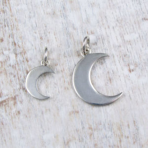 Crescent Moon Pendant - necklaces & pendants