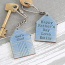 Personalised Fathers Day Gift For Dad Keyring