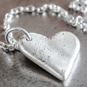 Personalised Large Heart Charm Necklace
