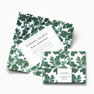 Botanical Leaf Telegram Invitation Suite - invitations