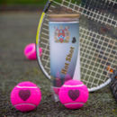Gifts For Tennis Lovers Heart Motif Tennis Balls