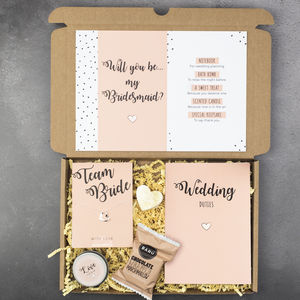 Personalised Will You Be My Bridesmaid Gift Box - gift sets