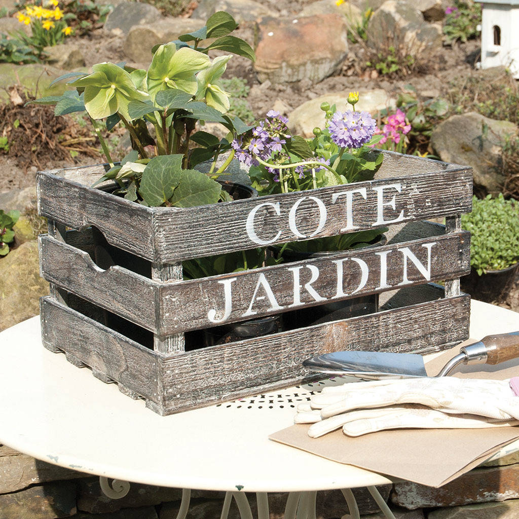 Cote Jardin French Country Storage Crate