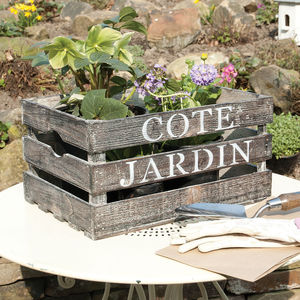 Cote Jardin French Country Storage Crate - summer sale
