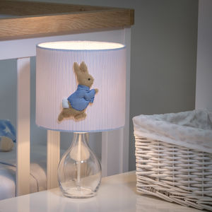 Peter Rabbit™ 3D Appliqué Handmade Lampshade - office & study