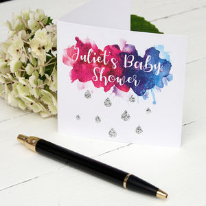 Personalised Baby Shower Card - invitations
