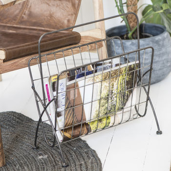 Industrial Style Magazine Rack