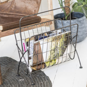 Industrial Style Magazine Rack - magazine racks