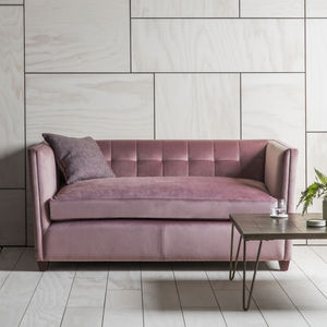 Pink Velvet Sofa - furniture