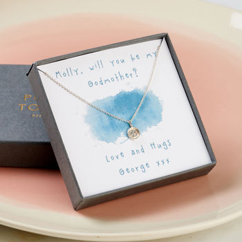 Personalised Godmother Necklace Giftbox