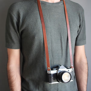 Personalised Leather Camera Strap - best birthday gifts
