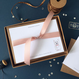 Personalised Westie Dog Correspondence Cards - notelets & writing paper