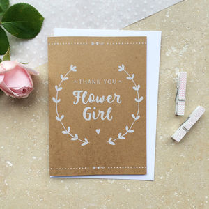 Flower Girl Thank You Card - flower girl cards