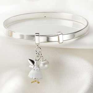 Personalised White Fairy Christening Bangle - children's accessories