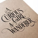 'Curious Girl' Notebook