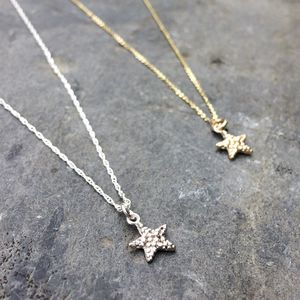 Star Pendant Recycled Silver Or Gold
