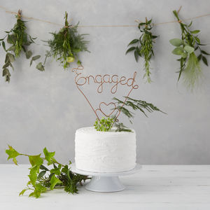 Engaged Wire Cake Topper