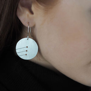 Pierced Slant Earrings