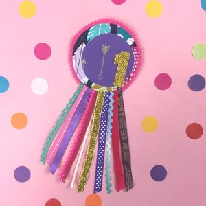 Feather And Arrow Birthday Rosette - children's jewellery
