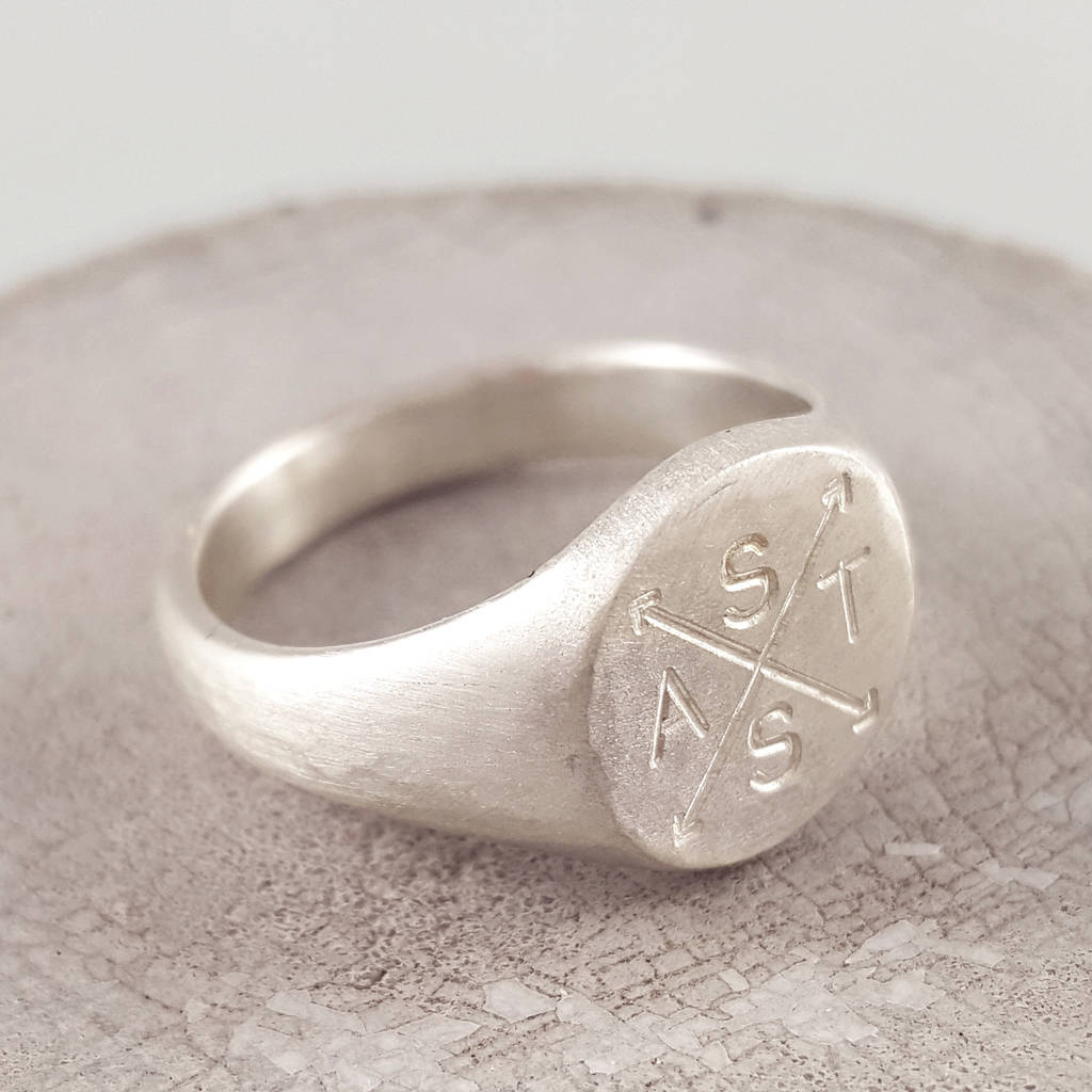 family initials engraved silver signet ring by scarlett jewellery ... 1a2f349e5424