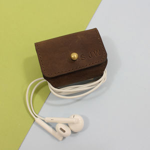 Personalised Leather Earphone Holder - gifts by category