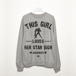 Aquarius Women's Zodiac Star Sign Sweatshirt