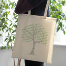 'Tree' Personalised Teacher Gift Or Tote Bag