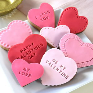 Personalised Valentine's Cookie Gift Set - cakes & sweet treats